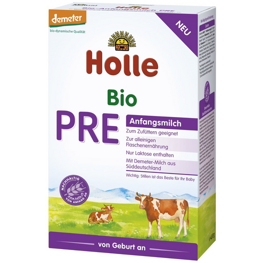 6 Pack of Holle Stage PRE Organic (Bio) Infant Milk Formula (400g)