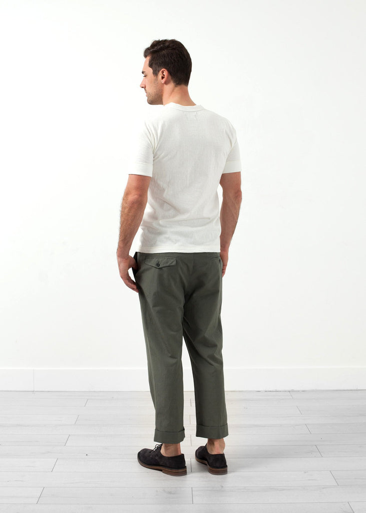 Flat Front Cuffed Trouser