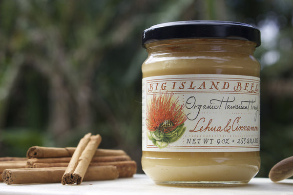 Organic Lehua & Cinnamon Honey - Hawaii Made