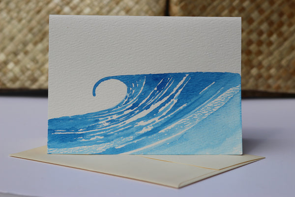 Watercolor Wave Greeting Card - Hawaii Made