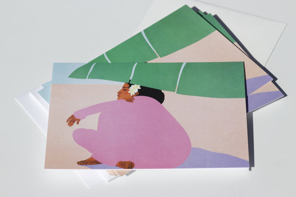 Pegge Hopper Banana Leaf Notecards - Hawaii Made
