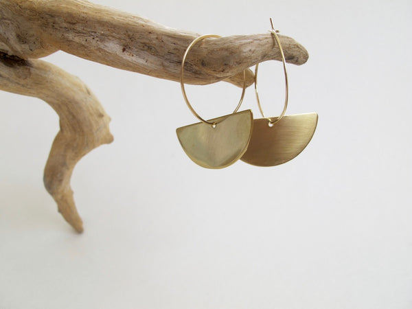 Hawaii Made Brass Earrings, Samu Mindfulness