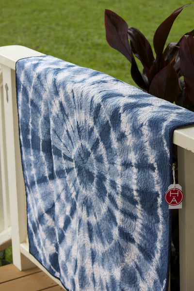 Indigo Baby Quilt - Hawaii Made