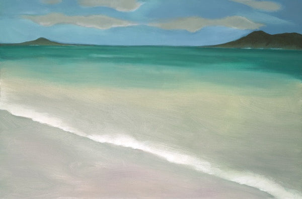 Kailua Beach, Pegge Hopper - Classic East Oahu Beach Scene.