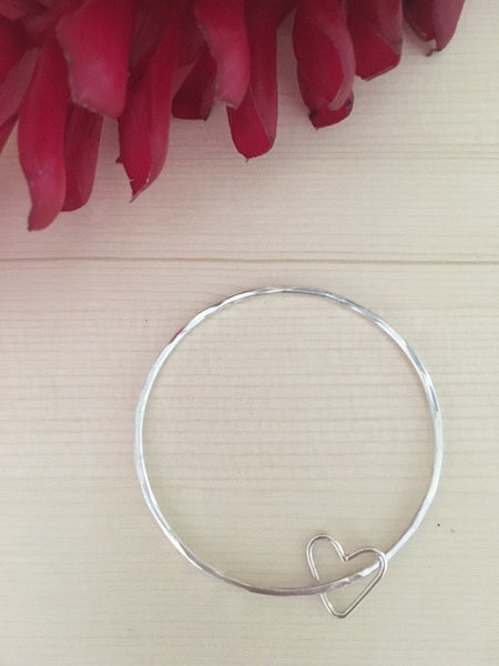 Aloha Heart Bangle - Hawaii Made