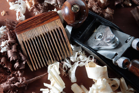 Wooden Beard Comb - Bocote and Cocobolo - Big T Woodworks