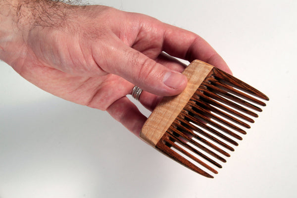 Wood Beard Comb - Cherry and Cocobolo - Big T Woodworks