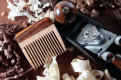 Wood Beard Comb - Cherry and Cocobolo