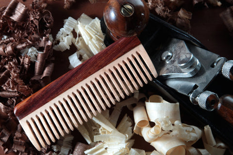 Mens Hair Comb - Maple and Cocobolo
