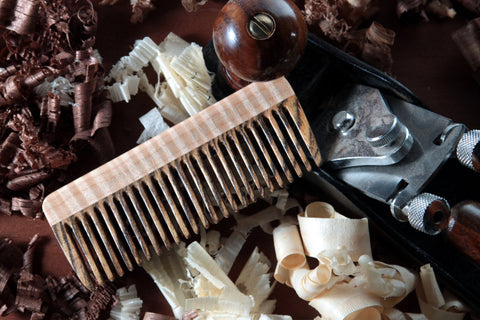 Wood Hair Comb - Bocote Curly Maple - Big T Woodworks