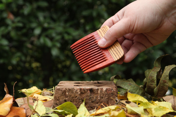 Custom Beard Comb - Paduak and Zebrawood - Wood Comb