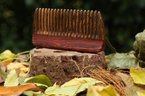 Wooden Hair Comb - Bocote Cocobolo - Big T Woodworks
