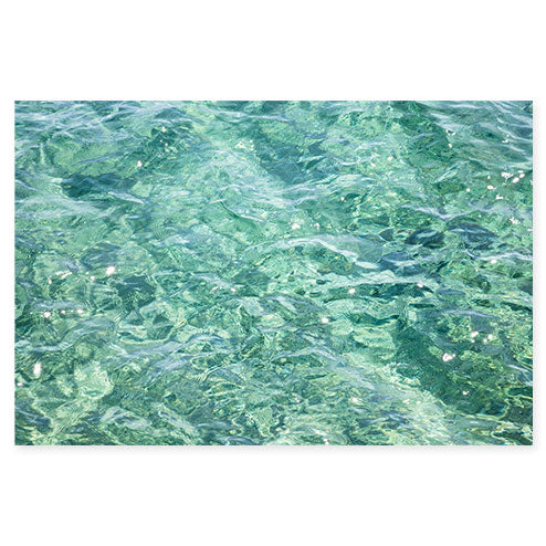 Abstract Water No 1 - Seafoam green ocean wall art by Cattie Coyle Photography