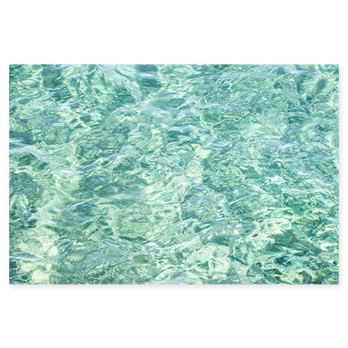 Abstract Water No 10 - Seafoam green ocean art print by Cattie Coyle Photography