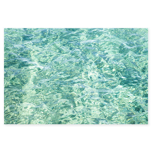 Abstract Water No 12 - Seafoam green ocean art print by Cattie Coyle Photography