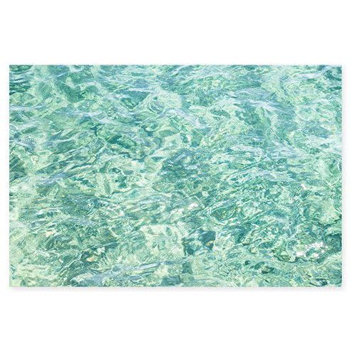 Abstract Water No 13 - Seafoam green ocean art print by Cattie Coyle Photography