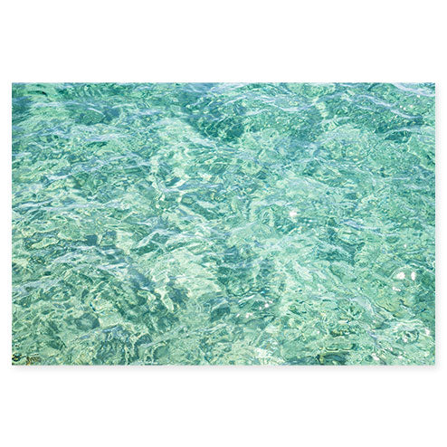 Abstract Water No 15 - Seafoam green ocean art print by Cattie Coyle Photography