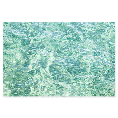 Abstract Water No 8 - Seafoam green ocean wall art by Cattie Coyle Photography