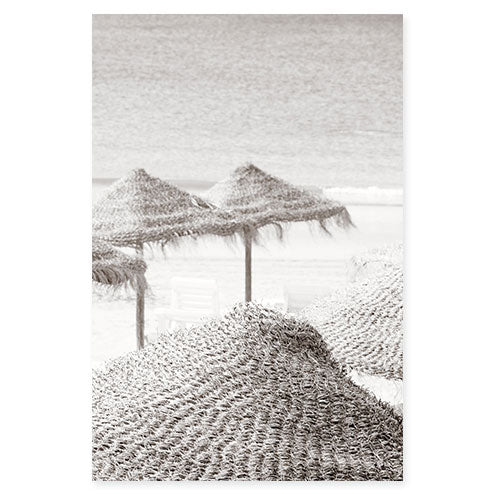 Beach Days No 5 - Black and white fine art photography by Cattie Coyle