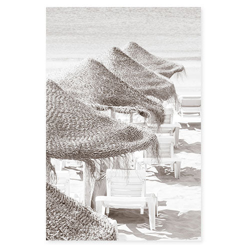 Beach Days No 6 - Fine art black and white print by Cattie Coyle Photography