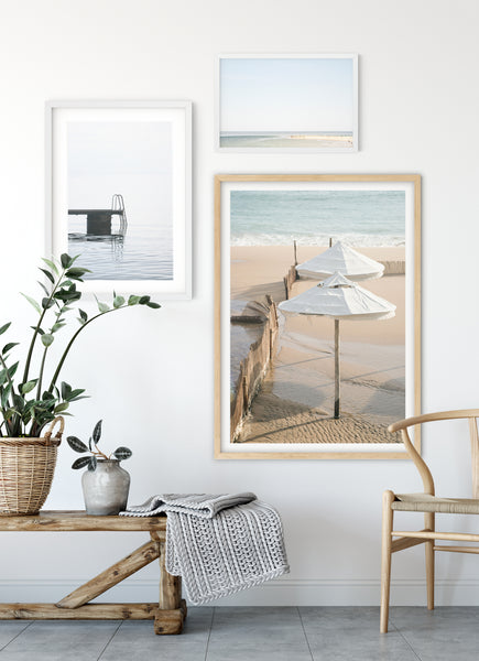 Beach photo gallery wall by Cattie Coyle Photography