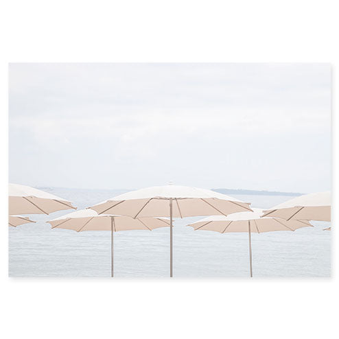 French Riviera No 8 - Beach umbrellas art print by Cattie Coyle Photography