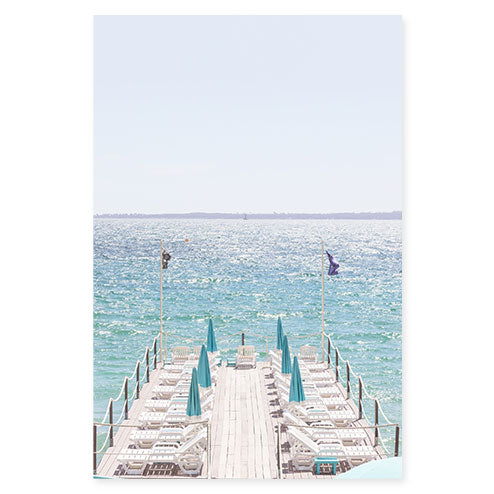 Juan-les-Pins - French Riviera art print by Cattie Coyle Photography