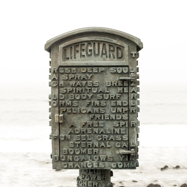 Lifeline - Lifeguard Telephone Box - California - Fine Art Photography
