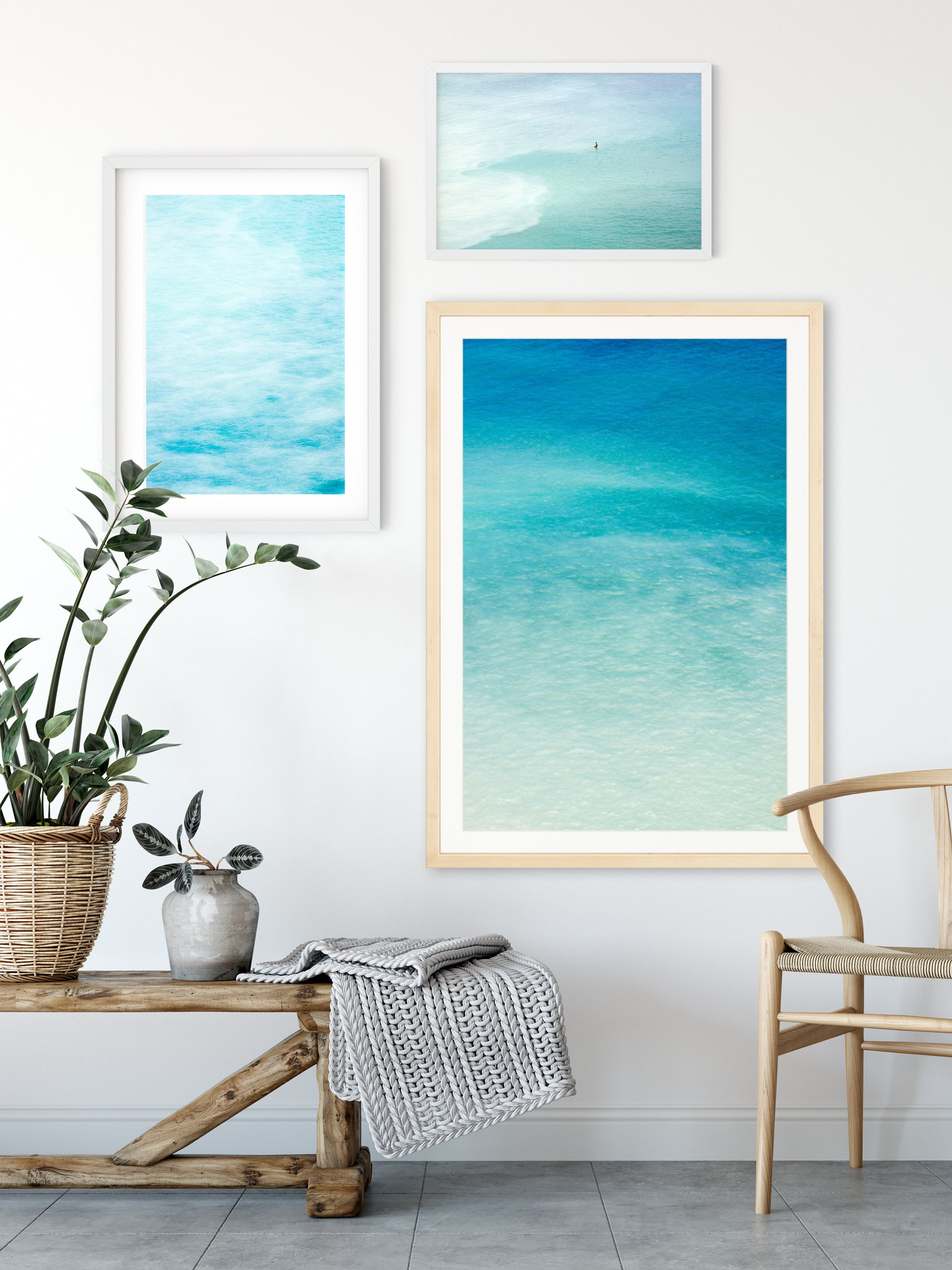Magoito - Turquoise blue abstract photo gallery wall by Cattie Coyle Photography