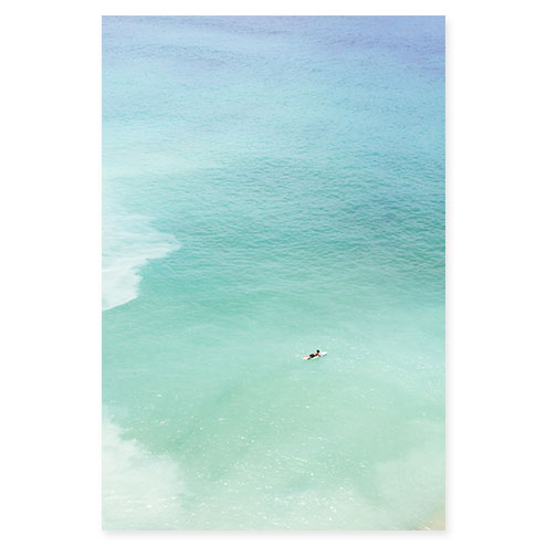 Magoito No 12 - Surfer and seafoam green water fine art prints by Cattie Coyle Photography
