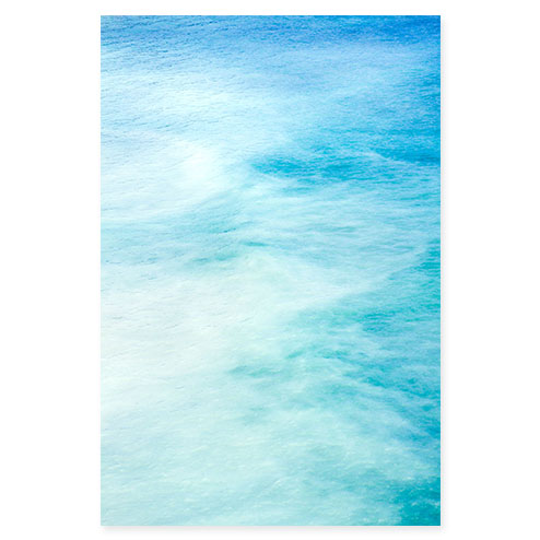 Magoito No 6 - Abstract turquoise blue fine art by Cattie Coyle Photography