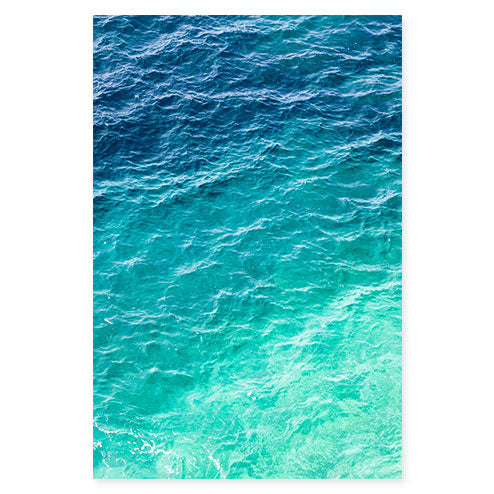 Mediterranean Shades of Teal No 2 - Ombre ocean wall art by Cattie Coyle Photography