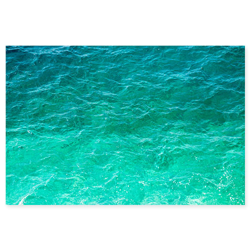 Mediterranean Shades of Teal No 3 - Green ocean wall art by Cattie Coyle Photography