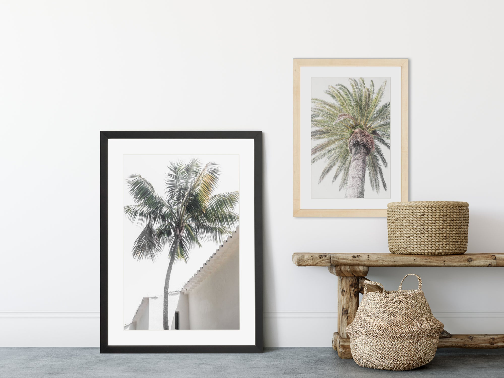 Palm Tree print set - 2 piece wall art by Cattie Coyle Photography