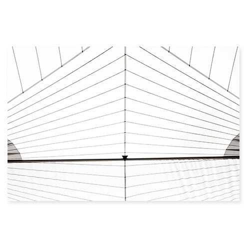 Sail No. 10 - Oversized minimalist black and white sail photography print by Cattie Coyle