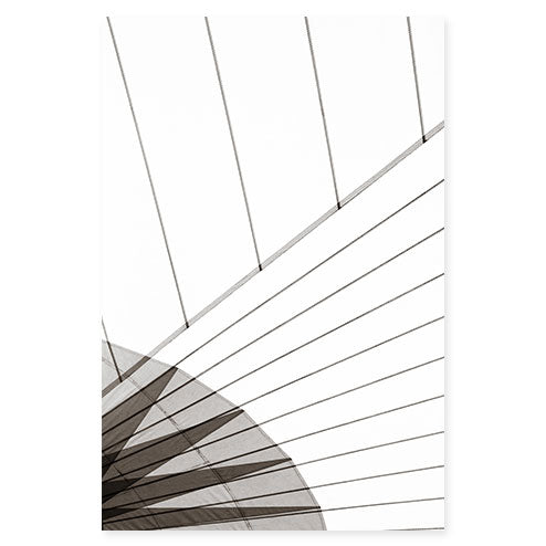 Sail No. 11 - Extra large black and white minimalist sail photography art by Cattie Coyle