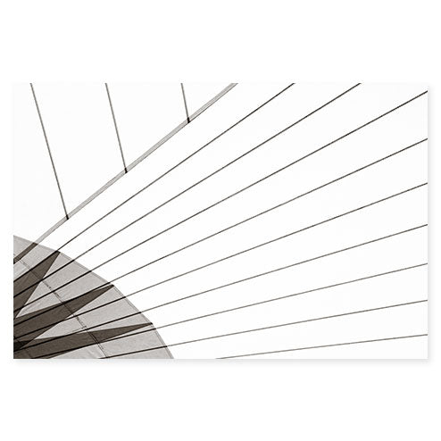 Sail No. 12 - Extra large black and white minimalist sail photography art print by Cattie Coyle