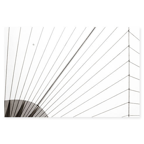 Sail No. 14 - Extra large black and white minimalist sail photography art print by Cattie Coyle