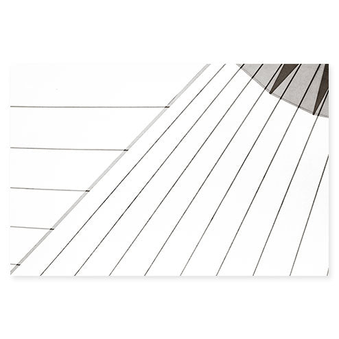 Sail No. 15 - Extra large black and white minimalist art print by Cattie Coyle Photography