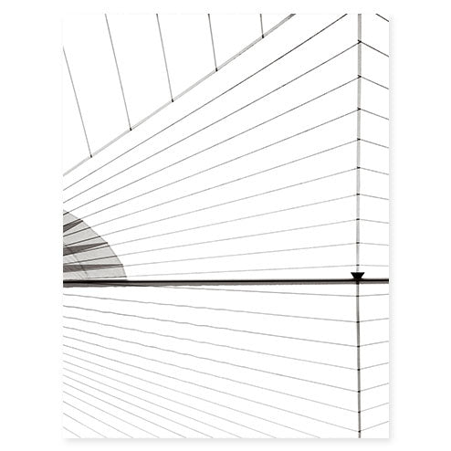 Sail No. 9 - Large black and white sailing photography art print by Cattie Coyle Photography