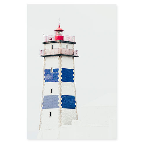 Santa Marta Lighthouse Portugal travel fine art print by Cattie Coyle Photography
