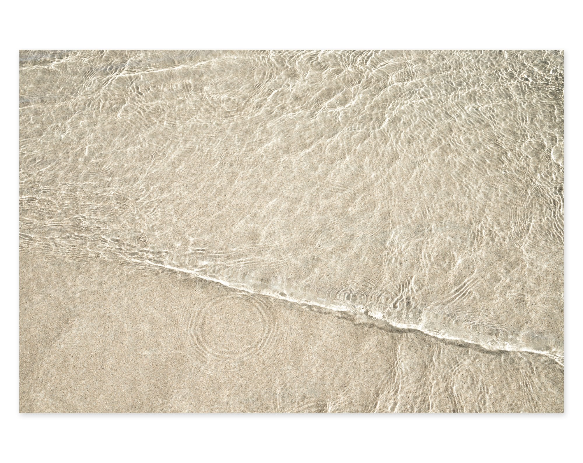 Shallow Water No 9 - Ocean waves art print by Cattie Coyle Photography
