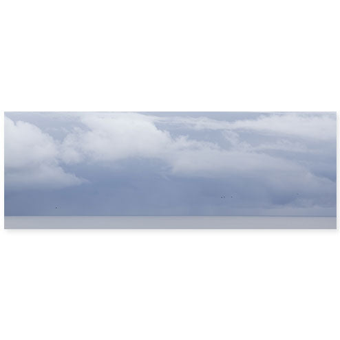 Summer Storm No. 7 Oversized Panoramic Seascape Photography Art Print by Cattie Coyle Photography