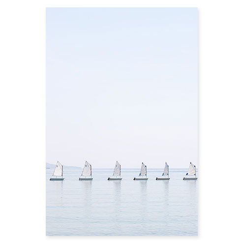 The Little Sailboats No 2 - Nautical wall art by Cattie Coyle Photography