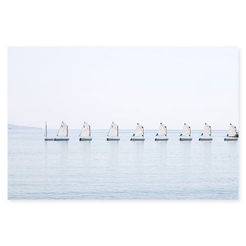 The Little Sailboats No 3 - Nautical wall art by Cattie Coyle Photography