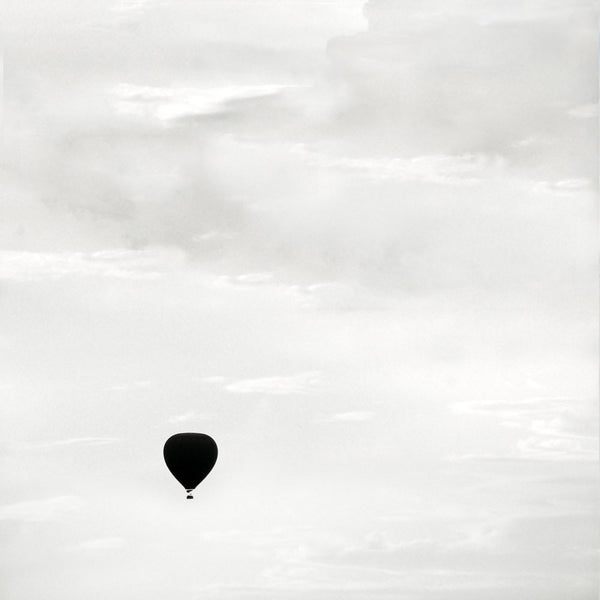 Hot Air Balloon Fine Art Print - Nursery Wall Art - Black and White - Cattie Coyle Photography