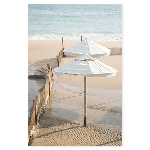 Umbrellas No 1 - Beach photography fine art print by Cattie Coyle