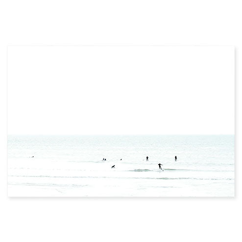 Waiting No. 3 - Large minimalist surfing fine art print by Cattie Coyle Photography