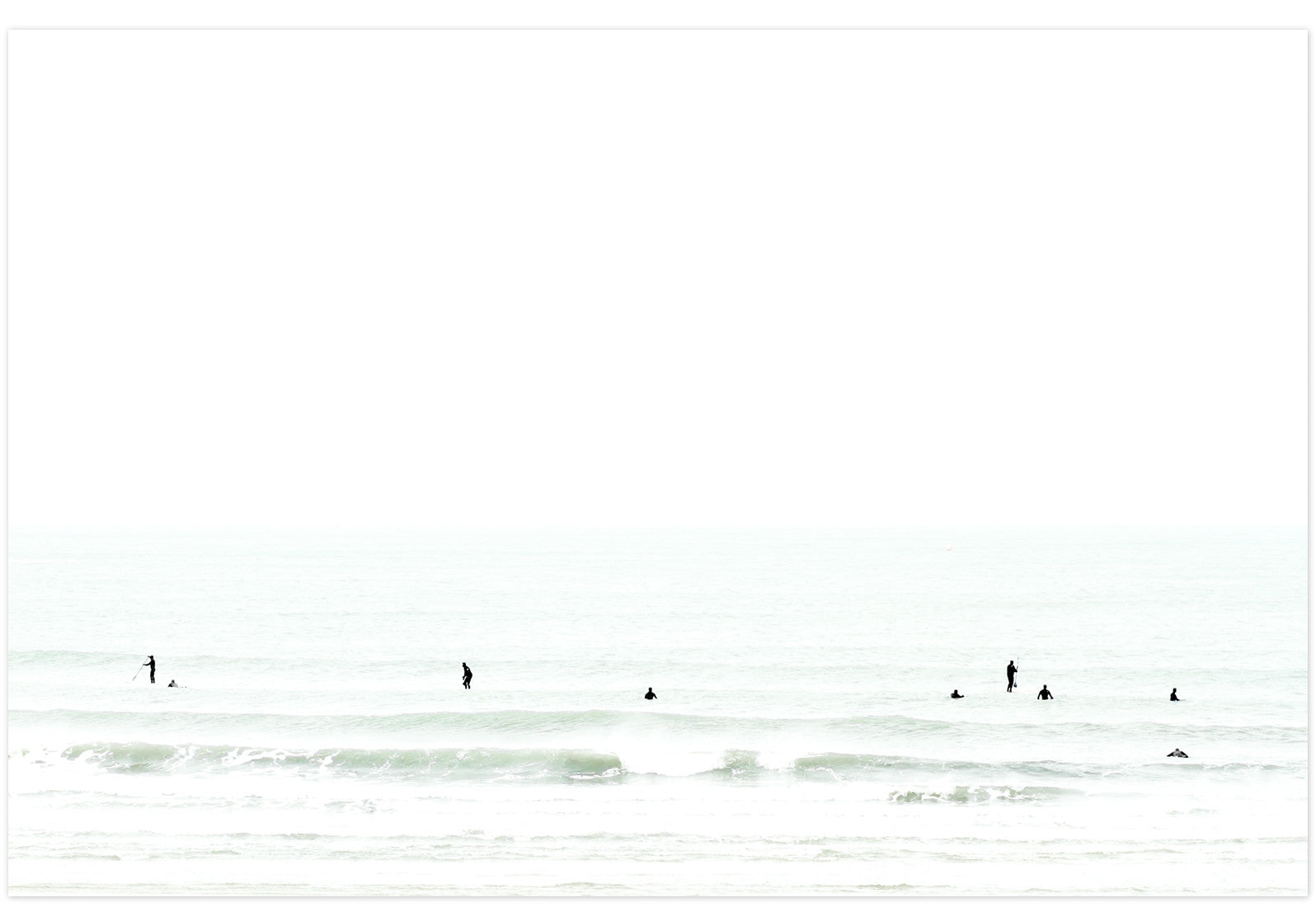 Waiting No. 2 - Large surfing fine art print by Cattie Coyle Photography