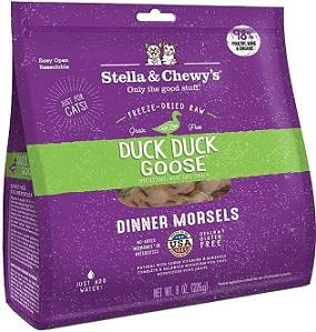 Stella's Duck Duck Goose Freeze-Dried Dinner For Cats 8oz - The Happy Dolphin Pets